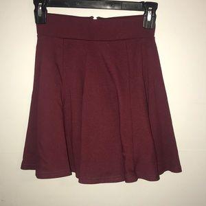 NWT! H&M- Divided: Maroon Skater Skirt